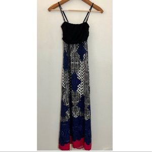 Anthro lilka maxi dress s